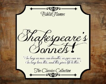 Shakespeare's Sonnets William Shakespeare inspired soy candle