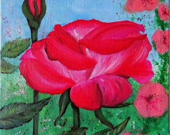 "Original Oil painting ""Shades of Pink"", 25x35cm Mother's Day Portugal paint"