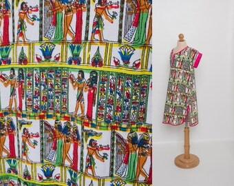vintage girl's novelty Egyptian print dress