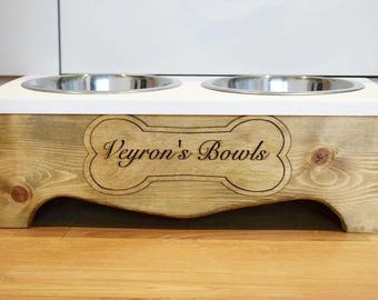 Personalised dog bowl, raised dog bowl stand, pet bowls, pet feeding, custom dog bowl, personalised pet feeder, personalised pet bowl,