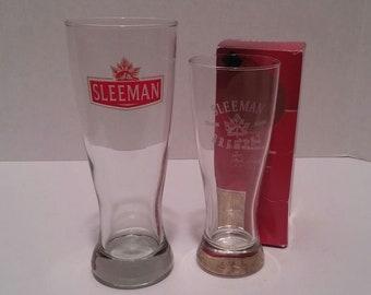 Sleeman Railside Session Ale & Malt Beer Brewing Glasses (Canada)