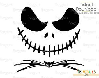 Jack Skellington SVG Files - INSTANT DOWNLOAD - For Cutting or Iron on - Clipart in Svg, Eps, Dxf, Png, and Jpeg
