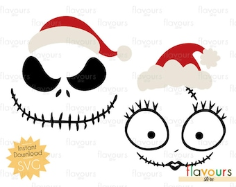 Jack Skellington And Sally Svg Files - INSTANT DOWNLOAD - For Cutting - Only SVG Files