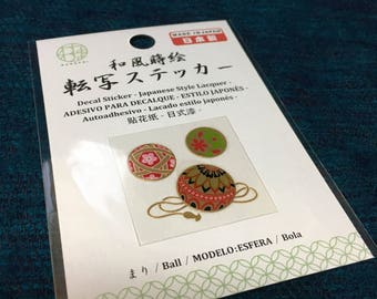 japanese ball  -Mari- design Wagara decal stickers