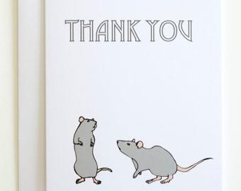 NEW! Rat Thank You card