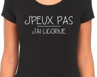 I can not I have Unicorn T Shirt women Humoristique Original.