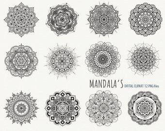 Mandala Clipart Mandalas Clipart Doilies Clipart Doily