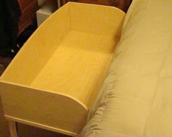 Bedside crib, co-sleeper, baby bed, children's custom furniture, homemade, handmade, made in USA.