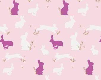 Bunny Binkies Fluff Metallic - Anna Elise by Bari J. from Art Gallery Fabrics - Bunny Fabrics - Children Fabrics - Kids Fabrics - Cotton