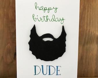 Manly birthday card