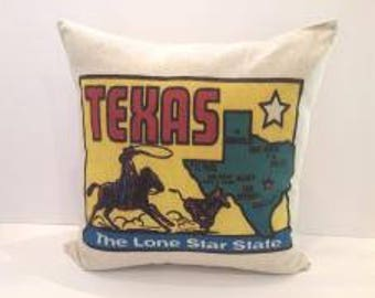 Texas the Lone Star State Pillow