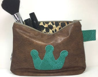 SALES display Green Snake leatherette case / Brown Crown and lining instead of 24 imprimee.*19e application *.