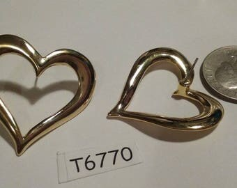 Vintage,  Heart,  Earrings, High Quality,  T6770