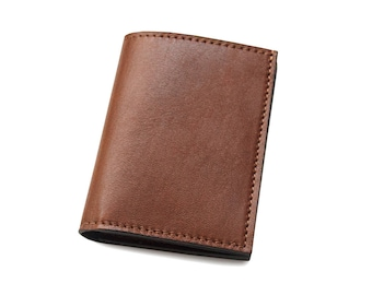 Leather wallet for men with credit card holders - Made in Italy