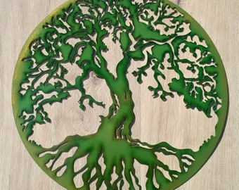 Tree Of Life, Hand Painted, 18.5''  (47 cm)