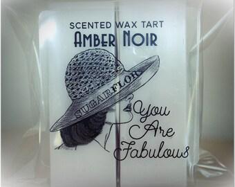 Scented wax - Amber Noir - bar duo