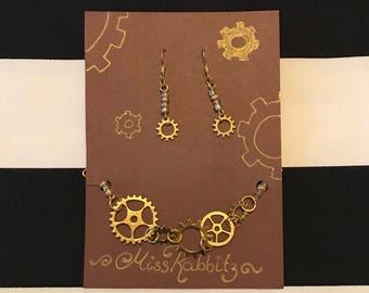 Jewelryset Steampunk Gold