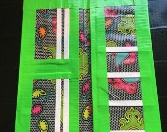 Bi-fold duct tape womens wallet (rainbow paisley theme)