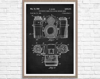 Camera Patent Print, Photographer Gift, Camera Art, Vintage Camera Art, Camera Patent Print, Camera Decor, Camera Print, Camera Art