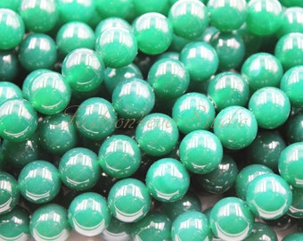 Emerald Green Dyed Agate Stone Beads, 6mm 8mm 10mm Full Strand 15.5 inches, Gemstone Beads, Beading Suppliers, Jewelry Suppliers