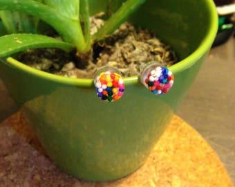 Handmade Stud Earrings - Sprinkles