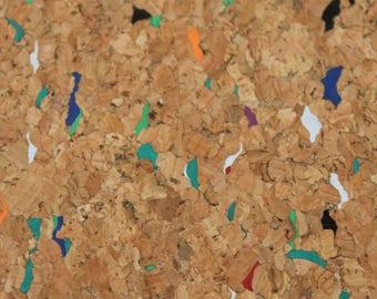Cork Fabric Natural And Mixed colour