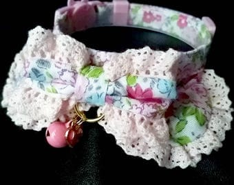 Fluffy Lovely Lace Cat Collar