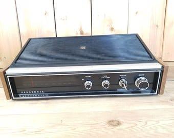 Vintage 70s RE7441 C Panasonic FM-AM Table Radio Wood Panel Analog Dual Radio Faux Wood Grain Electronic am fm