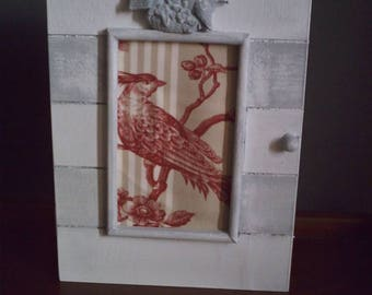 box key patinated white birds