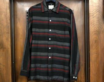 Vintage 1950's Gradation Stripe Rockabilly Shirt