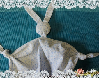 Cuddly little rabbit ears made with cotton fabric