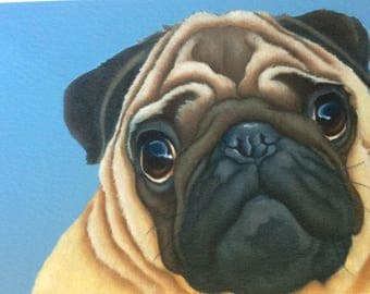 "pug painting ""Pugsley"""