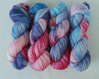 HOLOGRAMS - Hand Dyed Yarn – Choose Weight - Fingering  / Sport / Worsted – Superwash Variegated Yarn