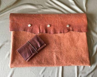 Leather Laptop Sleeve and Wallet Gift Set