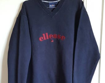 Sweatshirt 80% cotton Ellesse Vintage 90s Made in Europe size XL.