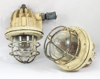 Explosion-proof USSR ship lamps