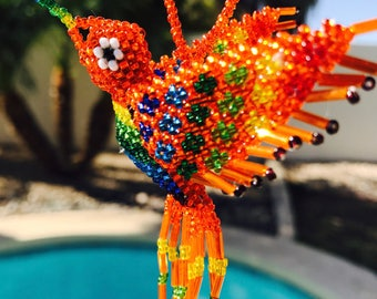 Handmade Guatemalan Beaded Hummingbird Ornament Gift Decoration Sun Catcher