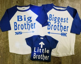 Big Brother, Little Brother,Sibling Set, Onesies and/or Shirts