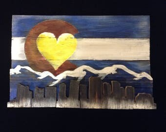 Denver skyline -3d