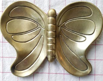 Vintage solid brass butterfly dish, bowl
