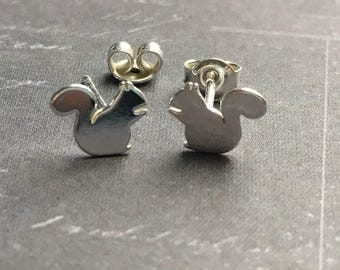 Squirrel Earring Earrings 925 Sterling Silver