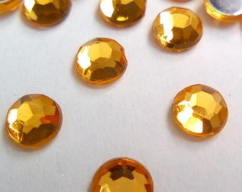 40 faceted golden yellow rhinestones 4 x 1, 5mm