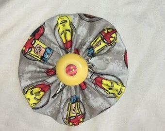 Iron Man Fabric Large Pinwheel Bow