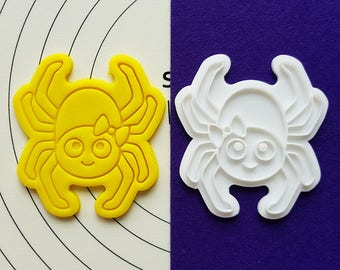 Cute Spider Cookie Cutter and Stamp