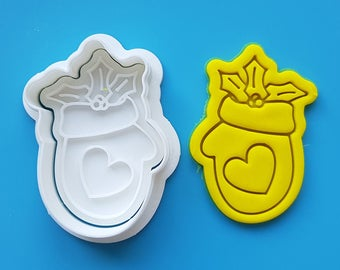 Christmas Mitten Cookie Cutter and Stamp