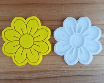 Flower 06  Cookie Cutter and Stamp