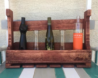 Upcycled Wood Pallet Wine Rack - 1/2 length
