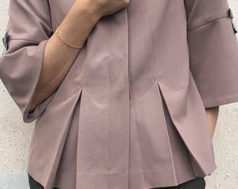 JACKET/Chanel look/ sex and the city/nordic/wool/stretch/elegant/short jacket/wool/designer jacket/special/colors/danish design