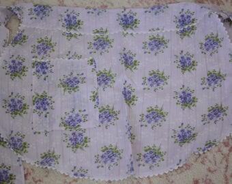 Vintage lavender apron