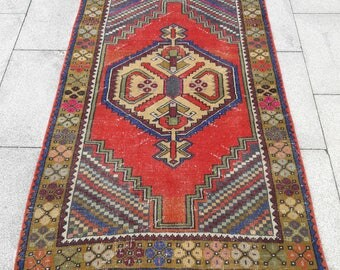 "Oriental Rug, Turkish Rug, Oushak Rug, Hand Made Rug, Hand Woven Rug, Area Rug, Entry Decors Rug, Desing Rug, New Fashion Rugs, 5'6""×3'6""ft"